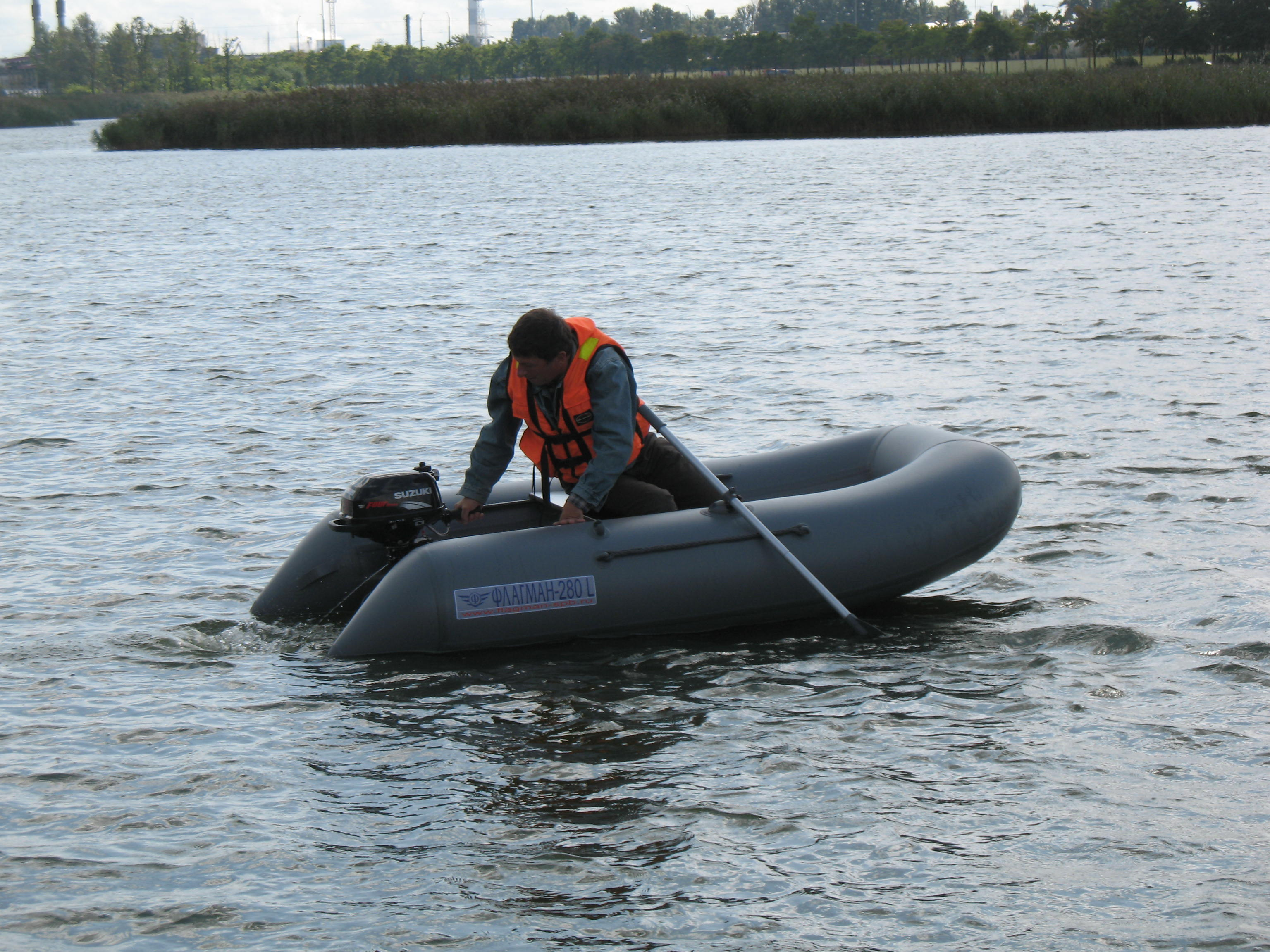 видео лодка флагман 280