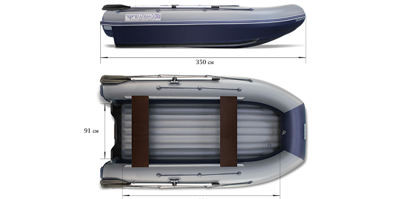 Тест-драйв надувной лодки «ФЛАГМАН 350»